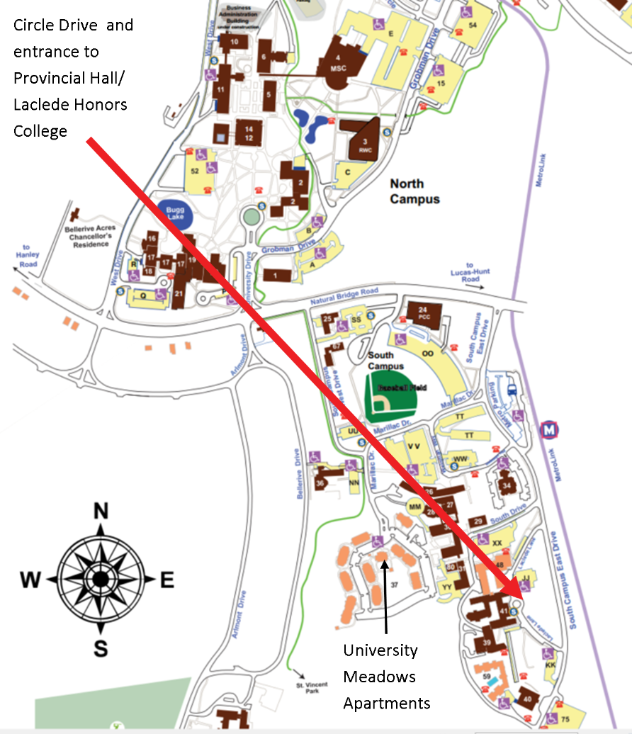 Umsl Campus Map Maps Of Canada
