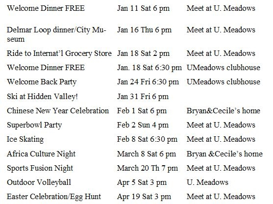 Spring 2014 Events